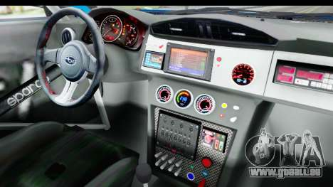 Subaru BRZ Rally pour GTA San Andreas vue intérieure