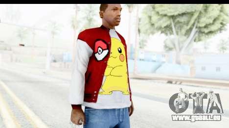 Jacket Pokemon Pokeball pour GTA San Andreas troisième écran