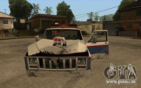 Nouvelle de remorquage pour GTA San Andreas vue intérieure