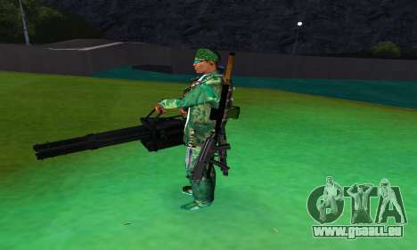 M134 MINIGUN BLACK für GTA San Andreas dritten Screenshot