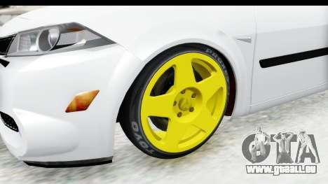 Renault Megane pour GTA San Andreas vue arrière