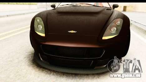 GTA 5 Dewbauchee Rapid GT SA Style pour GTA San Andreas vue de côté