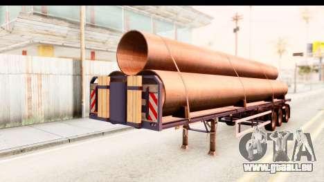 Trailer ETS2 v2 Nr. 1 pour GTA San Andreas sur la vue arrière gauche