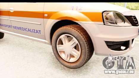 Dacia Logan Facelift Ambulanta v2 für GTA San Andreas Rückansicht