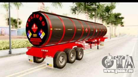 Trailer Fuel pour GTA San Andreas laissé vue