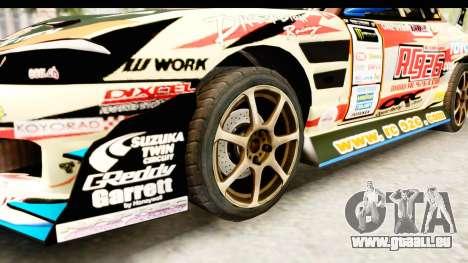 D1GP Nissan Silvia RC926 Toyo Tires pour GTA San Andreas vue arrière