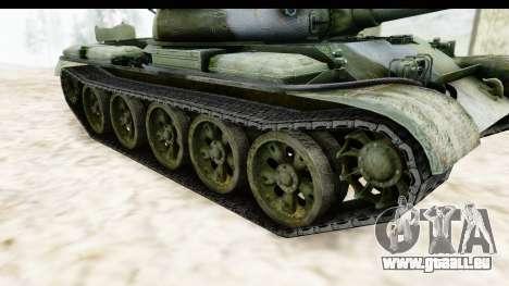 T-62 Wood Camo v2 pour GTA San Andreas vue intérieure