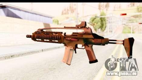 SCAR-LK Green pour GTA San Andreas deuxième écran