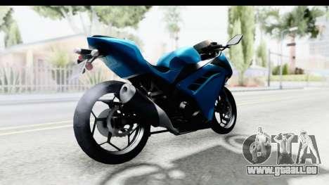 Kawasaki Ninja 300R für GTA San Andreas zurück linke Ansicht
