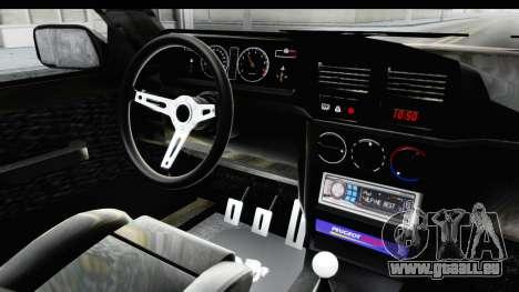 Peugeot 309 GTi pour GTA San Andreas vue intérieure