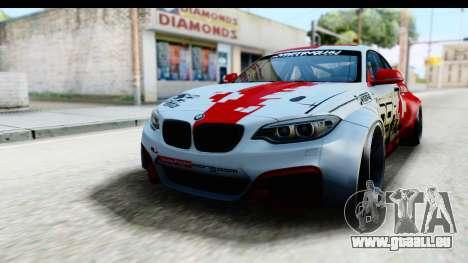 BMW M235i HGK pour GTA San Andreas sur la vue arrière gauche