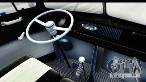 Volkswagen Transporter T1 Deluxe Bus pour GTA San Andreas vue arrière