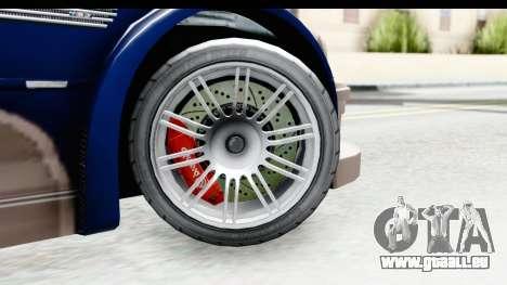 NFS Carbon - BMW M3 GTR pour GTA San Andreas vue arrière