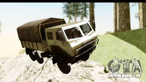 Dongfeng SX Military Truck pour GTA San Andreas sur la vue arrière gauche