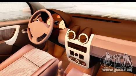 Dacia Logan Facelift Ambulanta v2 pour GTA San Andreas vue intérieure