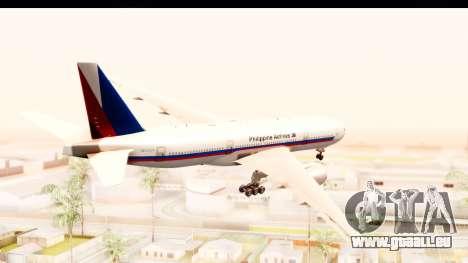 Boeing 777-200LR Philippine Airline Retro Livery pour GTA San Andreas vue de droite
