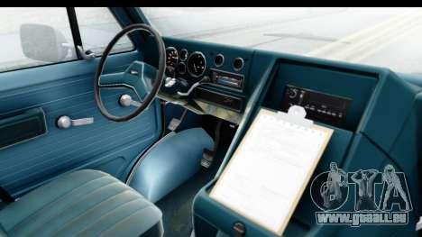 GMC Vandura 1985 White Stripes IVF pour GTA San Andreas vue intérieure