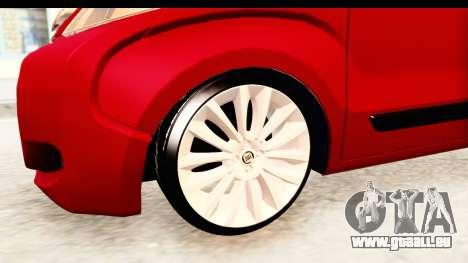 Fiat Fiorino v2 für GTA San Andreas Rückansicht