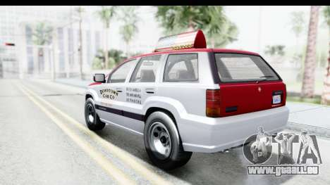 GTA 5 Canis Seminole Downtown Cab Co. Taxi für GTA San Andreas linke Ansicht