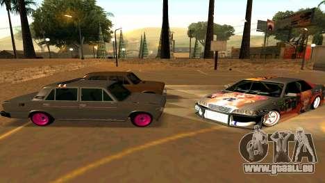 Toyota Chaser pour GTA San Andreas vue de dessus