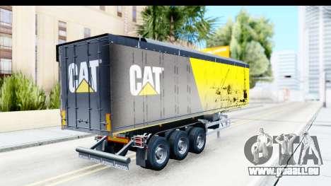 Trailer Caterpillar pour GTA San Andreas laissé vue