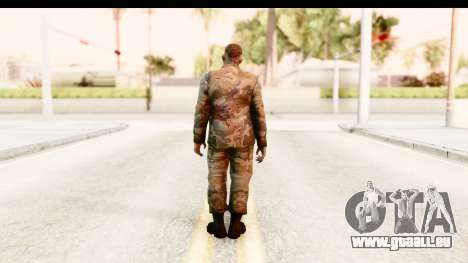 Left 4 Dead 2 - Zombie Military pour GTA San Andreas troisième écran