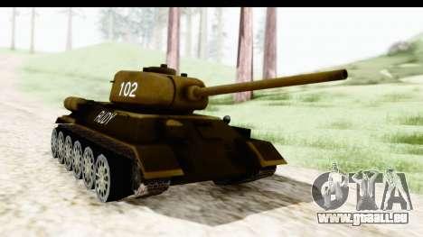 T-34-85 Rudy 102 für GTA San Andreas rechten Ansicht