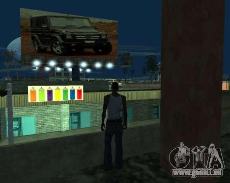 La peinture du garage pour GTA San Andreas