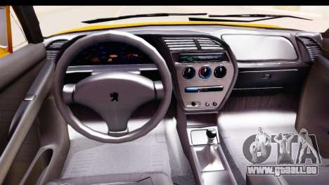 Peugeot 306 GTI pour GTA San Andreas vue intérieure