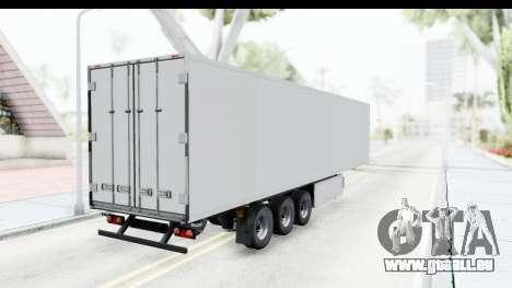 Trailer ETS2 v2 Old Skin 3 pour GTA San Andreas sur la vue arrière gauche
