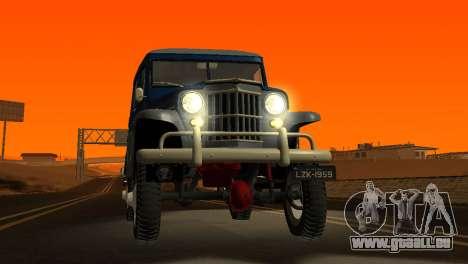 Jeep Station Wagon 1959 pour GTA San Andreas vue de côté