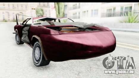 Tampa Daytona Kill pour GTA San Andreas sur la vue arrière gauche