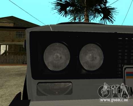 VAZ 2106 Armenischen für GTA San Andreas Räder