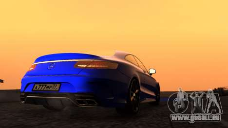 Mercedes-Benz S63 Coupe pour GTA San Andreas vue de droite