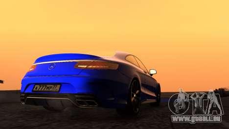 Mercedes-Benz S63 Coupe für GTA San Andreas rechten Ansicht