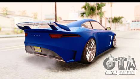 GTA 5 Ocelot Lynx pour GTA San Andreas laissé vue