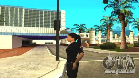La peau d'un agent de sexe féminin pour GTA San Andreas quatrième écran