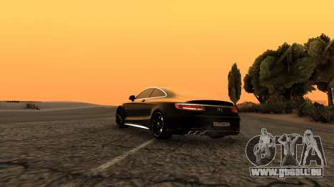Mercedes-Benz S63 Coupe pour GTA San Andreas laissé vue