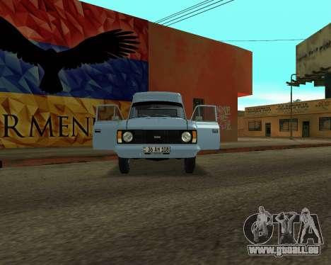 Moskvich 2715 Arménien pour GTA San Andreas laissé vue