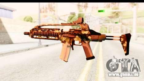 SCAR-LK Hex Camo Green für GTA San Andreas zweiten Screenshot
