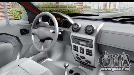 Dacia Logan MCV pour GTA San Andreas vue intérieure