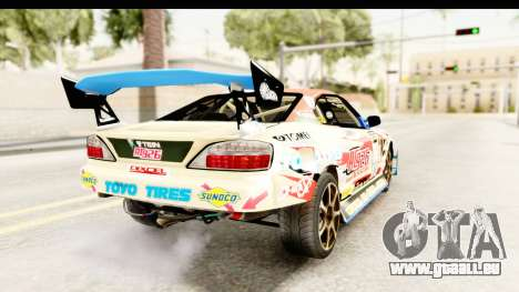 D1GP Nissan Silvia RC926 Toyo Tires für GTA San Andreas linke Ansicht