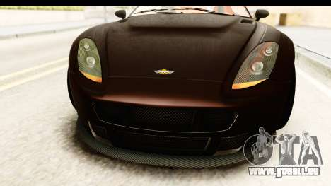 GTA 5 Dewbauchee Rapid GT SA Style pour GTA San Andreas vue intérieure