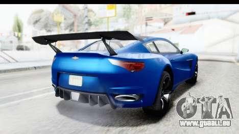 GTA 5 Dewbauchee Seven 70 für GTA San Andreas linke Ansicht