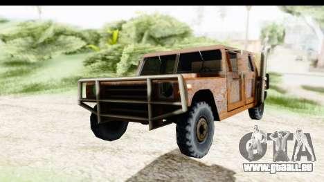 Rusted Patriot pour GTA San Andreas vue de droite