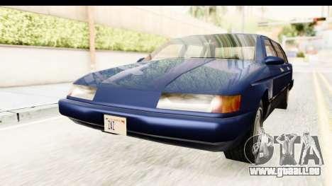 Solair Sedan pour GTA San Andreas vue de droite