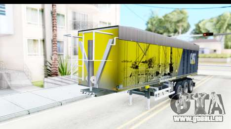 Trailer Caterpillar pour GTA San Andreas vue de droite