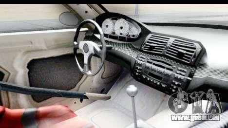 NFS Carbon - BMW M3 GTR pour GTA San Andreas vue intérieure