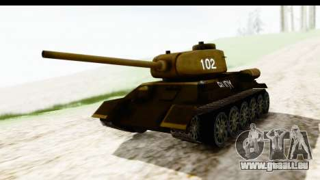 T-34-85 Rudy 102 pour GTA San Andreas