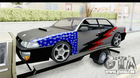 Limousine Auto Transporter für GTA San Andreas Rückansicht